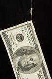 美元钓鱼钩 库存图片