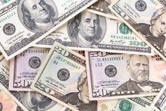 美元钞票背景 免版税图库摄影