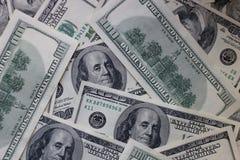 美元钞票金钱背景 免版税库存照片