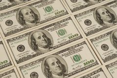 美元钞票金钱背景 免版税图库摄影