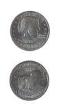 美元银色自由硬币 库存照片