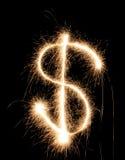 美元闪烁发光物 库存图片