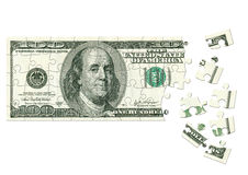 美元难题 库存图片