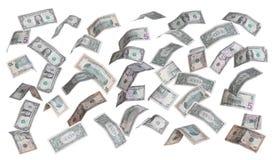 美元雨  免版税库存图片