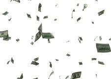 美元雨 免版税图库摄影