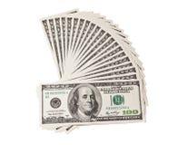 美元风扇一百 库存图片