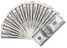 美元风扇 图库摄影