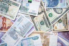 美元,兹罗提, rubel,欧元, hryvna 库存照片