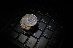 美元,费用 交换率的经济展望 免版税库存照片