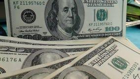 美元,飞行,慢动作计数财务企业信用手计数办公室 影视素材