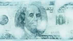 100美元结冰的融解 股票录像