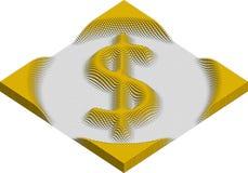 美元货币符号由立方体制成 免版税库存照片