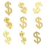 美元货币符回报 库存照片
