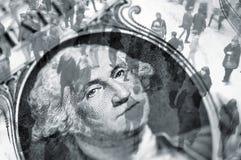 美元贸易 免版税库存照片