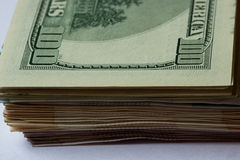 美元; $ 100作为背景; 免版税库存图片
