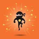 美元Ninja 免版税库存照片