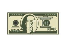 美元OMG画象富兰克林 美国金钱 美国货币查出的四分之一白色 噢 向量例证