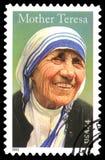 美利坚合众国取消了邮票真福加尔各答的德肋撒 免版税库存照片