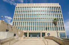 美利坚合众国的使馆在哈瓦那,古巴 免版税库存图片