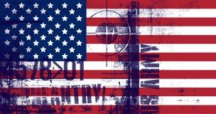 美利坚合众国的国旗 步枪范围标志 美国军队文本 皇族释放例证