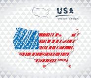 美利坚合众国的地图有里面手拉的略图的 也corel凹道例证向量 向量例证