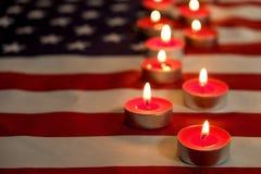 美利坚合众国的背景旗子为全国联邦假日庆祝和哀悼的记忆天 美国标志 免版税库存图片
