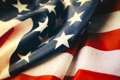 美利坚合众国的葡萄酒旗子为经验丰富的` s天 免版税库存图片