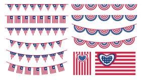 美利坚合众国短打和旗子 库存图片