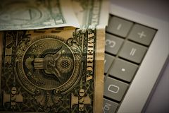 美利坚合众国货币 图库摄影