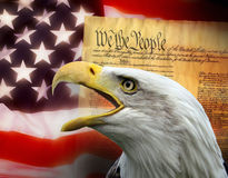 美利坚合众国-爱国标志 免版税库存照片
