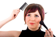 美发师妇女年轻人 免版税库存图片