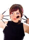 美发师妇女年轻人 免版税库存照片
