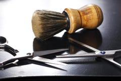 美发师的工具 免版税库存图片
