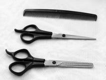 美发师的必要的工具 免版税库存图片