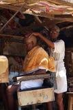 美发师,印度 免版税库存图片