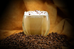 美味咖啡的饮料 免版税库存照片