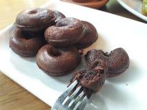 美味巧克力的多福饼 免版税库存图片