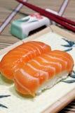 美味的三文鱼 免版税库存照片
