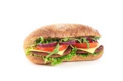 美味的三明治用乳酪 图库摄影