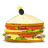 美味的三明治 皇族释放例证