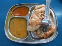 美味的便宜的膳食在马来西亚 免版税图库摄影