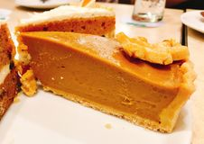 美味的南瓜蛋糕 免版税库存照片