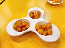 美味的变甜的银杏树盘  图库摄影