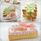 美味的圣诞节饼干的汇集 免版税图库摄影