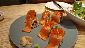美味的寿司和姜 免版税库存图片