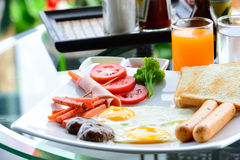 美味的早餐 免版税库存照片