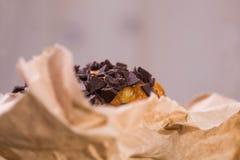 美味的松饼上面  免版税库存图片