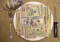 美味的金钱食物 免版税库存图片