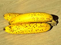 美味的黄色香蕉 库存照片