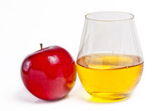 美味苹果和它是汁液 图库摄影